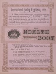 Advert for the Waterproof Health Boot